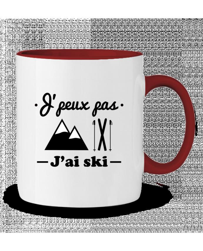 Two-tone Ceramic Mug J'peux pas j'ai ski Benichan