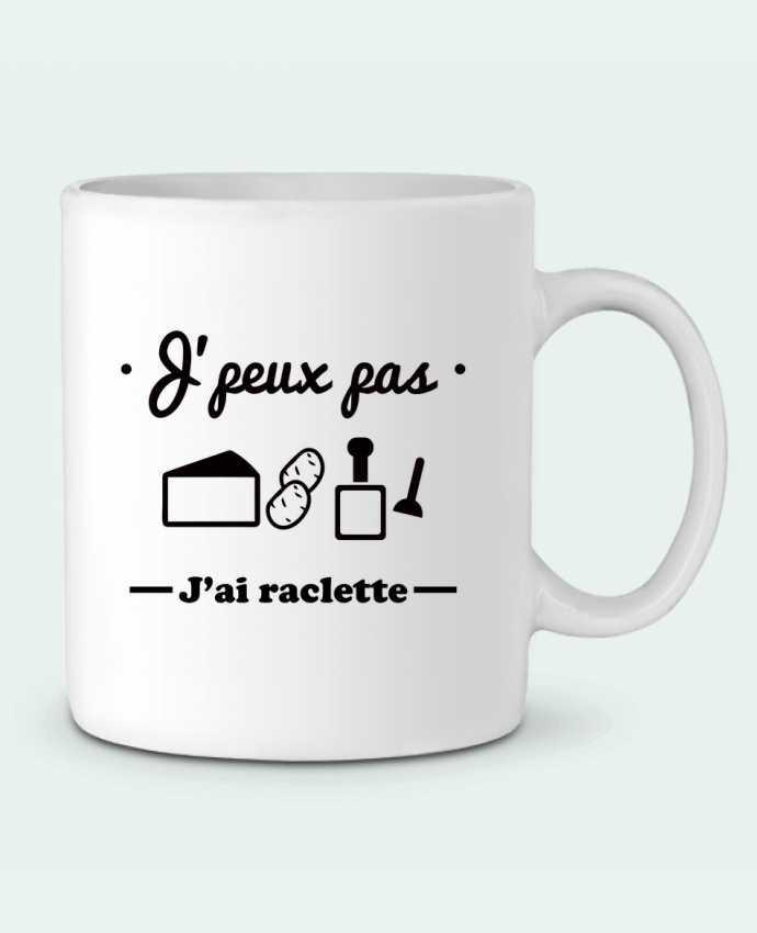 Ceramic Mug J'peux pas j'ai raclette by Benichan