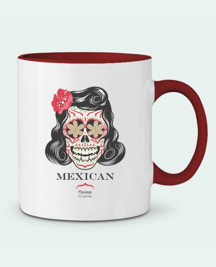 Two-tone Ceramic Mug Mexican crane Mauvaise Graine