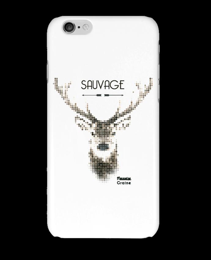 Case 3D iPhone 6 Tête de cerf sauvage by Mauvaise Graine