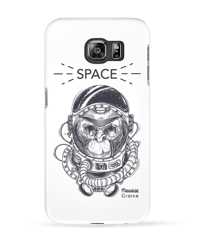 Case 3D Samsung Galaxy S6 Monkey space - Mauvaise Graine