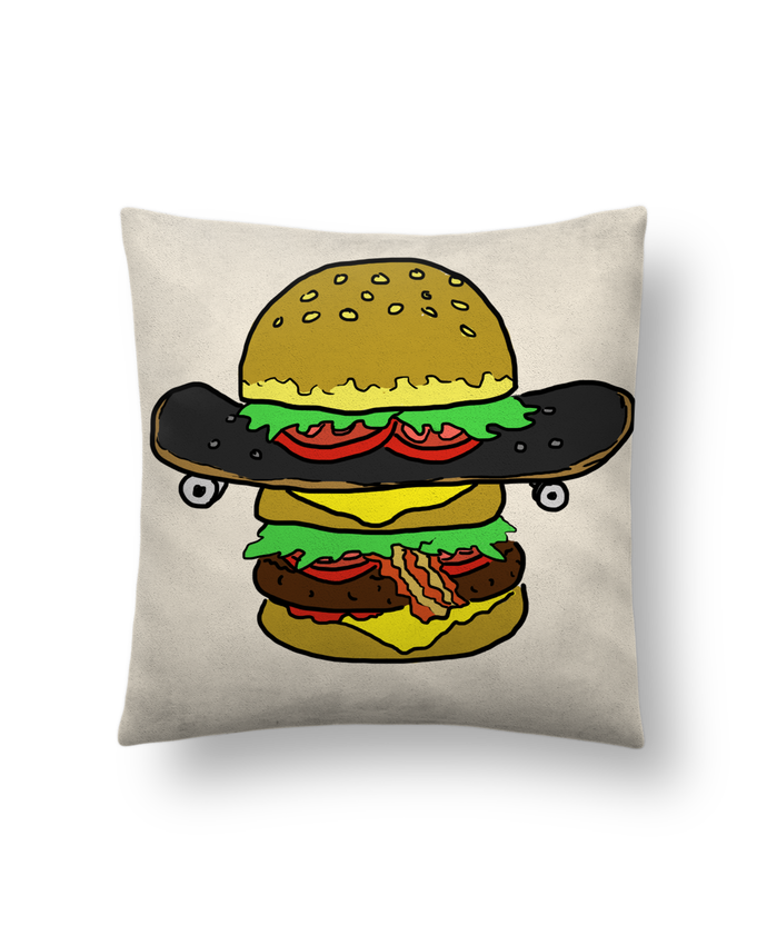 Cushion suede touch 45 x 45 cm Skateburger by Salade