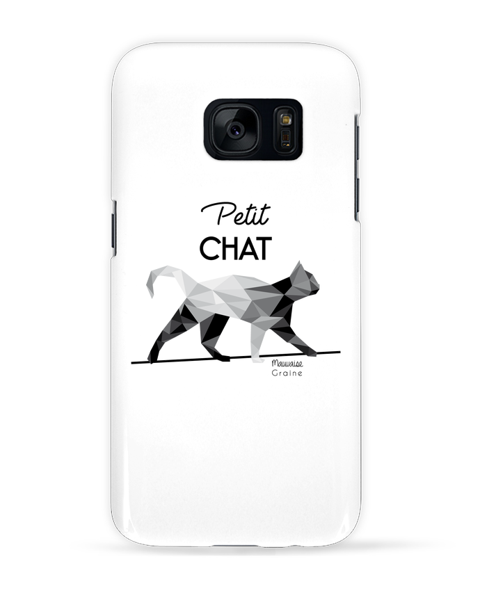 Case 3D Samsung Galaxy S7 Petit chat origami by Mauvaise Graine