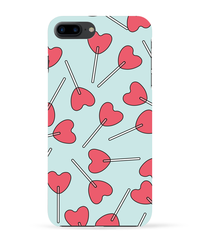 Case 3D iPhone 7+ Sucettes coeur by tunetoo