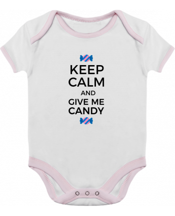 Baby Body Contrast Keep Calm and give me candy by tunetoo