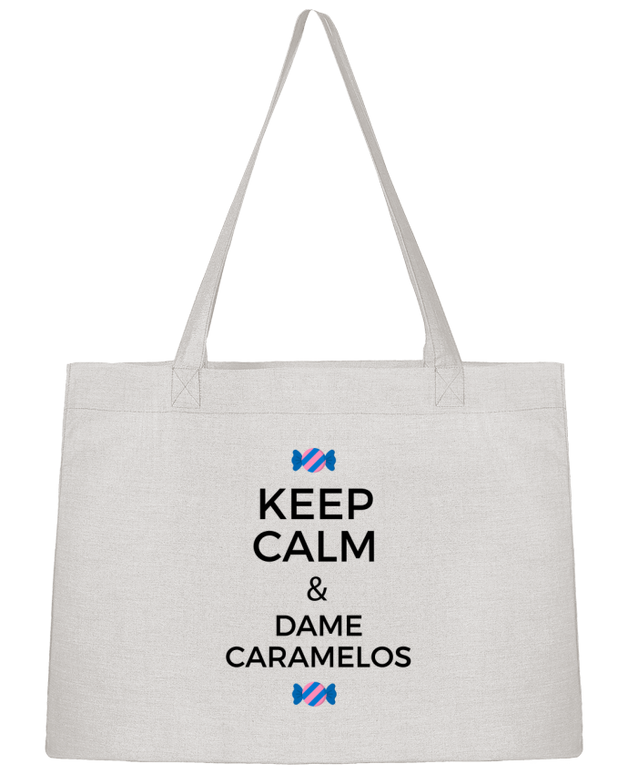 Shopping tote bag Stanley Stella Keep Calm and Dame Caramelos by tunetoo