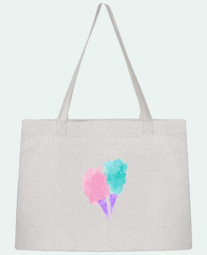Shopping tote bag Stanley Stella Watercolor Cotton Candy by PinkGlitter