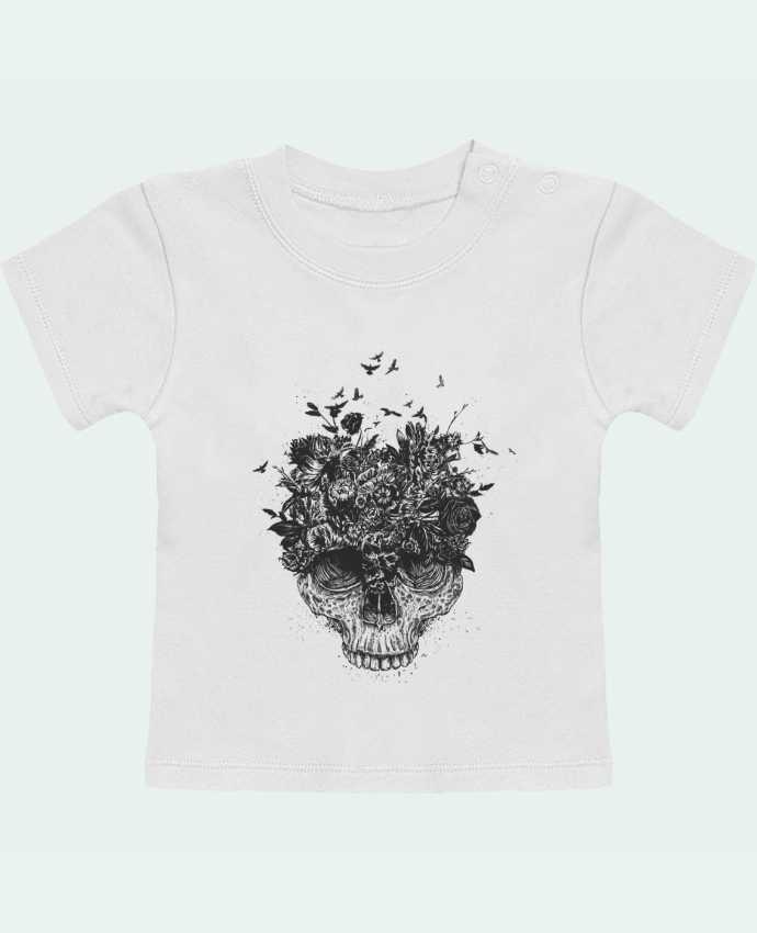 T-Shirt Baby Short Sleeve My head is a jungle manches courtes du designer Balàzs Solti