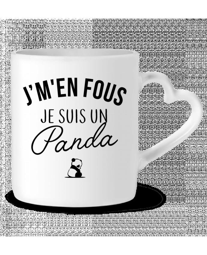 Mug Heart J'm'en fous je suis un panda by LPMDL