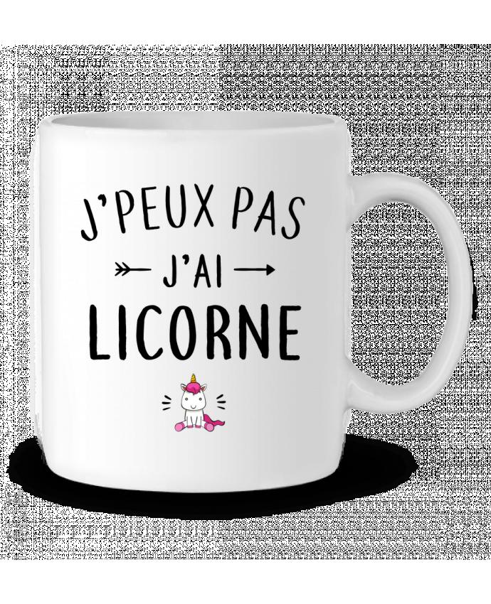 Ceramic Mug J'peux pas j'ai licorne by LPMDL