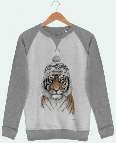 Sweat French Terry Siberian tiger by Balàzs Solti
