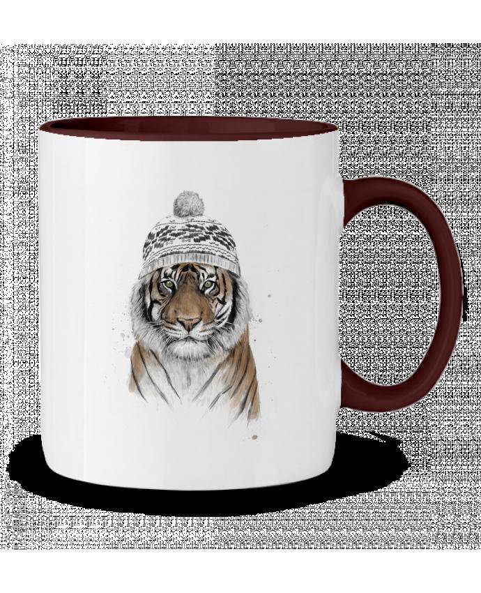 Two-tone Ceramic Mug Siberian tiger Balàzs Solti