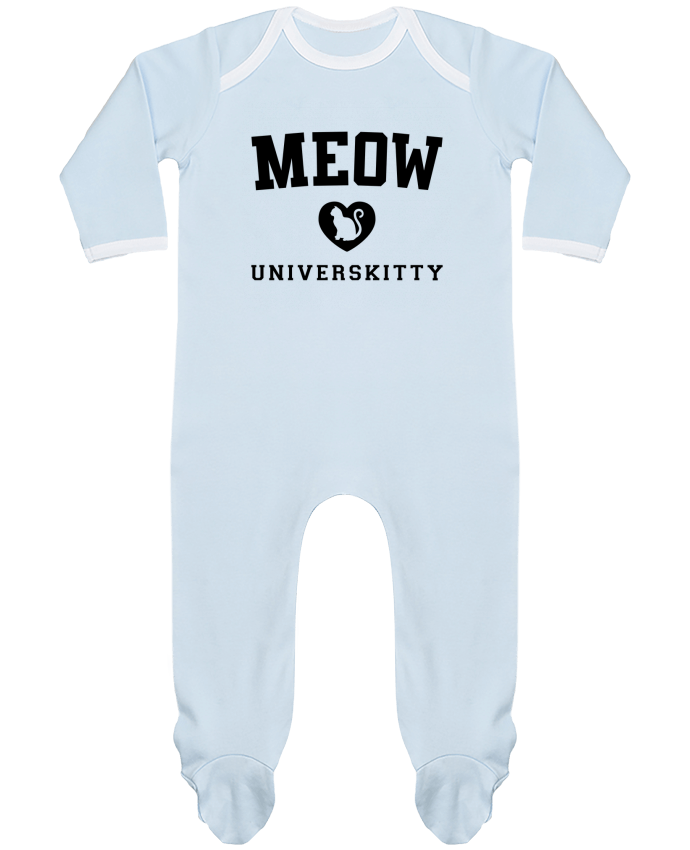 Baby Sleeper long sleeves Contrast Meow Universkitty by Freeyourshirt.com