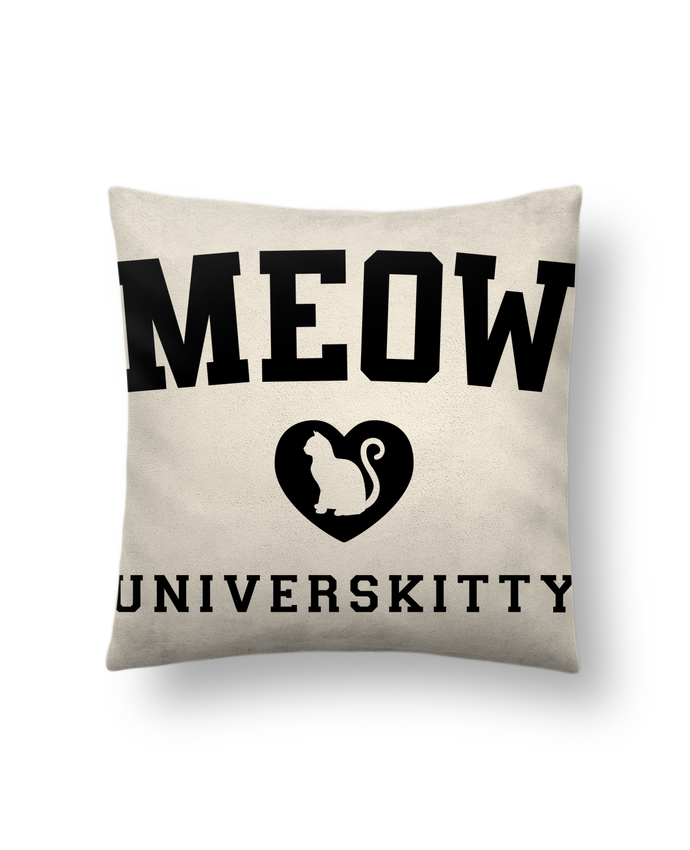 Cushion suede touch 45 x 45 cm Meow Universkitty by Freeyourshirt.com
