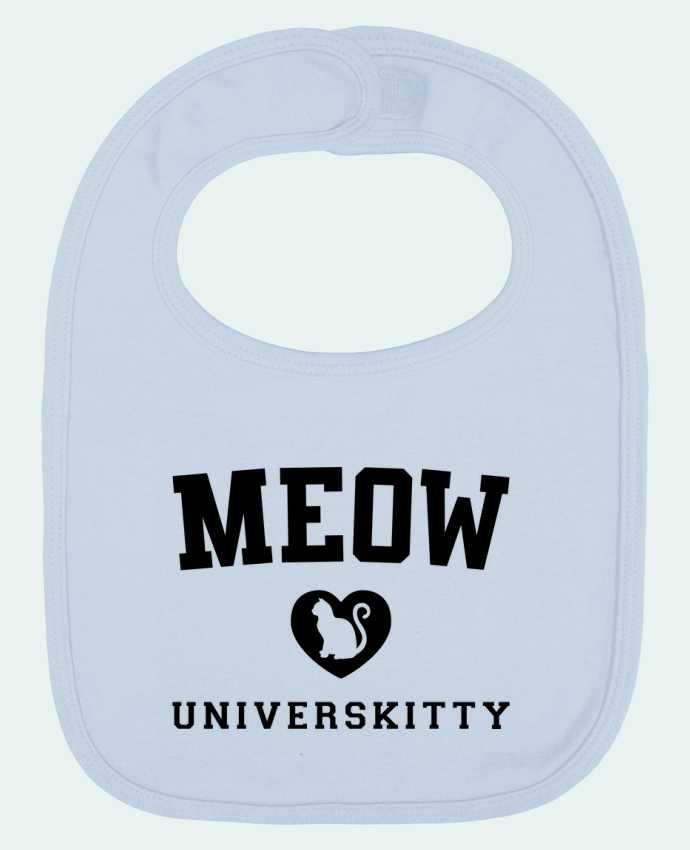 Baby Bib plain and contrast Meow Universkitty by Freeyourshirt.com