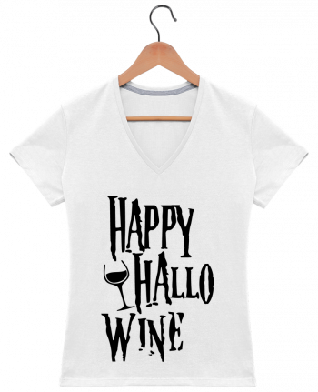 T-Shirt V-Neck Women Hallowine by mini09