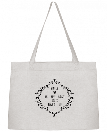 Shopping tote bag Stanley Stella Smile is my best make up by Les Caprices de Filles
