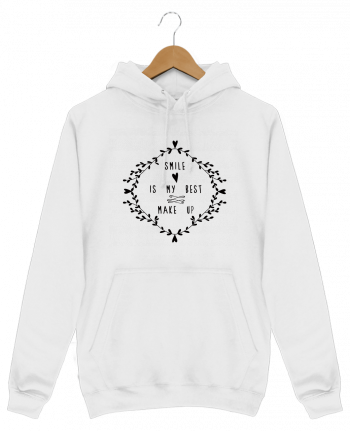 Hoodie Men Smile is my best make up by Les Caprices de Filles