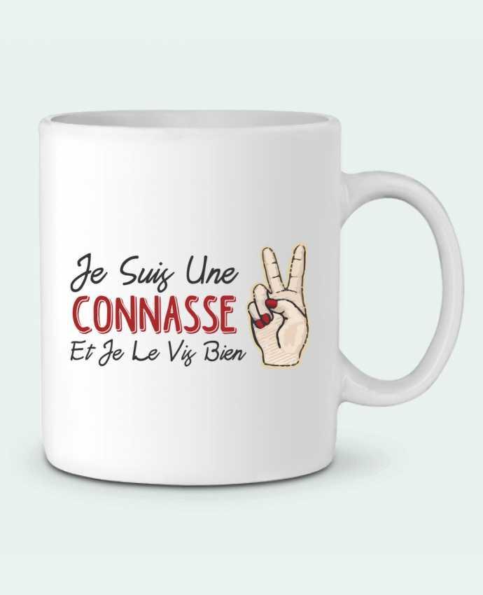 Ceramic Mug Je suis une connasse et je le vis bien by tunetoo