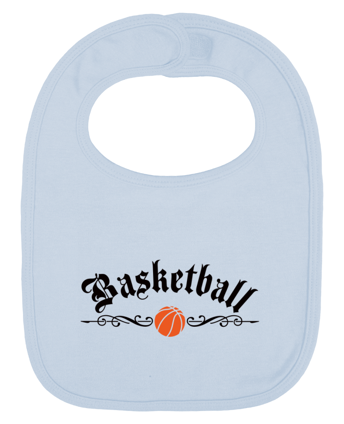Baby Bib plain and contrast Basketball by Freeyourshirt.com