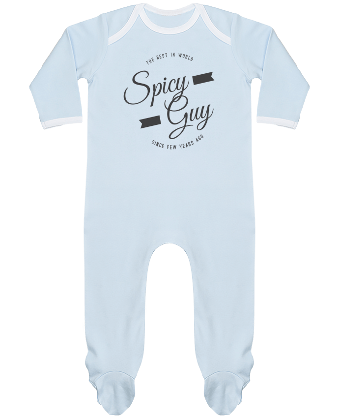 Baby Sleeper long sleeves Contrast Spicy guy by Les Caprices de Filles