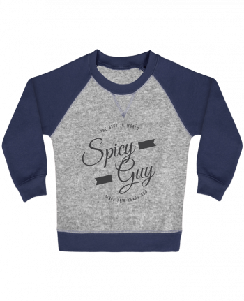 Sweatshirt Baby crew-neck sleeves contrast raglan Spicy guy by Les Caprices de Filles