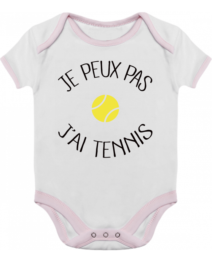 Baby Body Contrast Je peux pas j'ai Tennis by Freeyourshirt.com