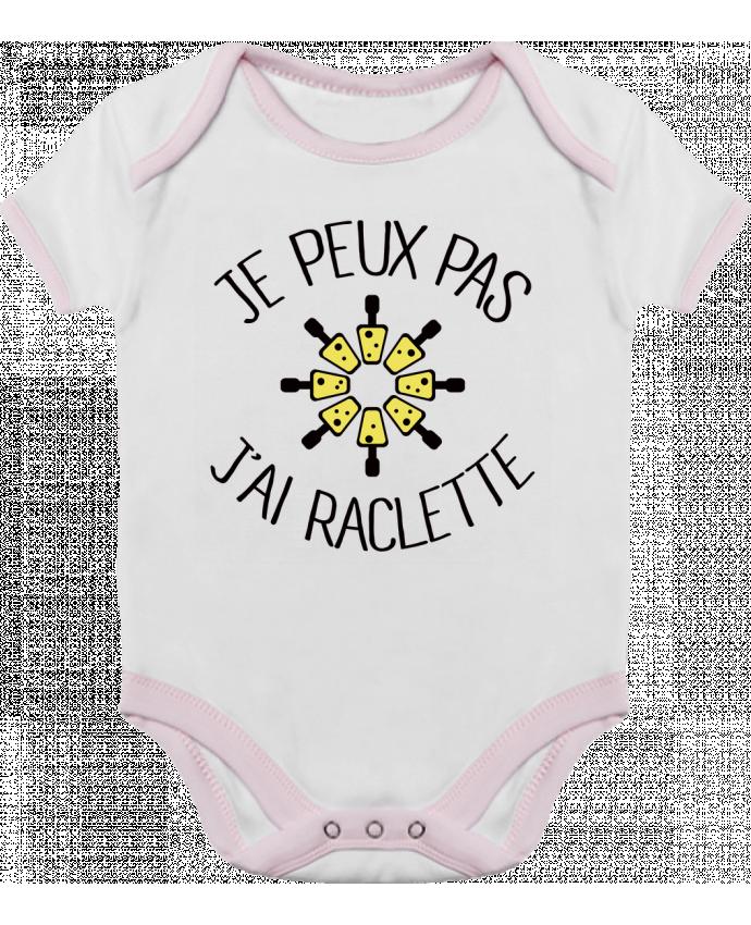 Baby Body Contrast Je peux pas j'ai Raclette by Freeyourshirt.com