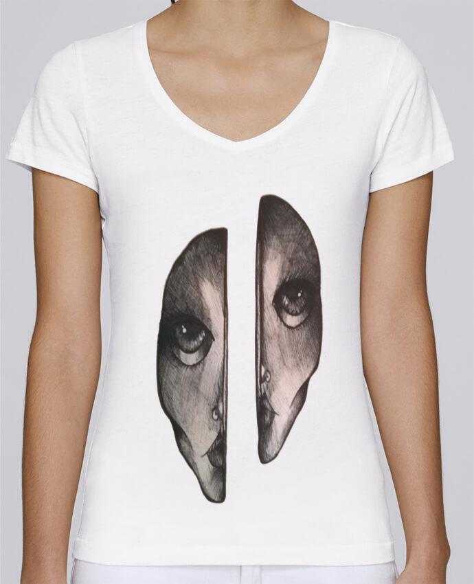 T-Shirt V-Neck Women Stella Chooses Headache by OhHelloGuys!