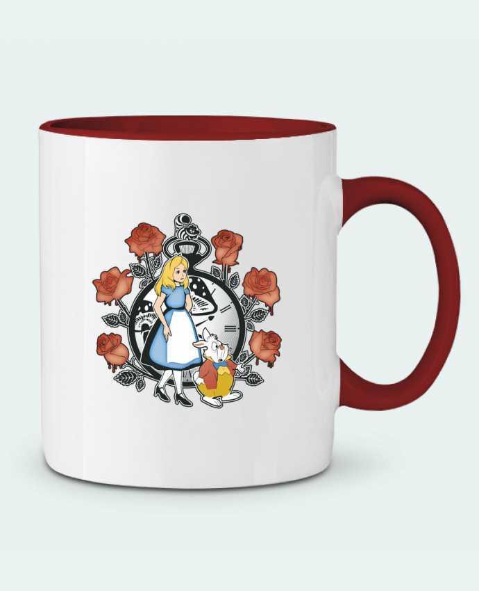 Two-tone Ceramic Mug Time for Wonderland Kempo24