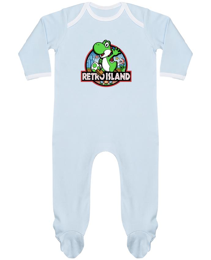 Baby Sleeper long sleeves Contrast Retro Park by Kempo24