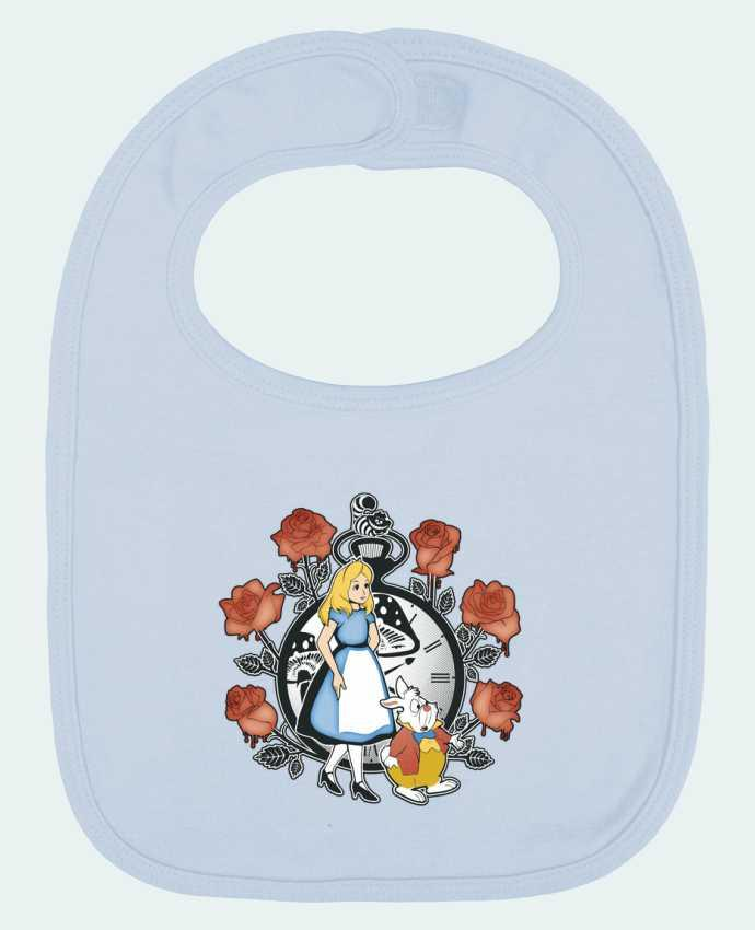 Baby Bib plain and contrast Time for Wonderland by Kempo24
