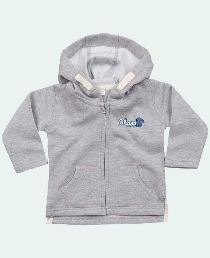 Hoddie with zip for baby Ohana means family by Kempo24