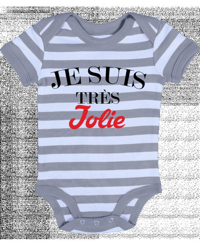 Baby Body striped Je suis très jolie - tunetoo