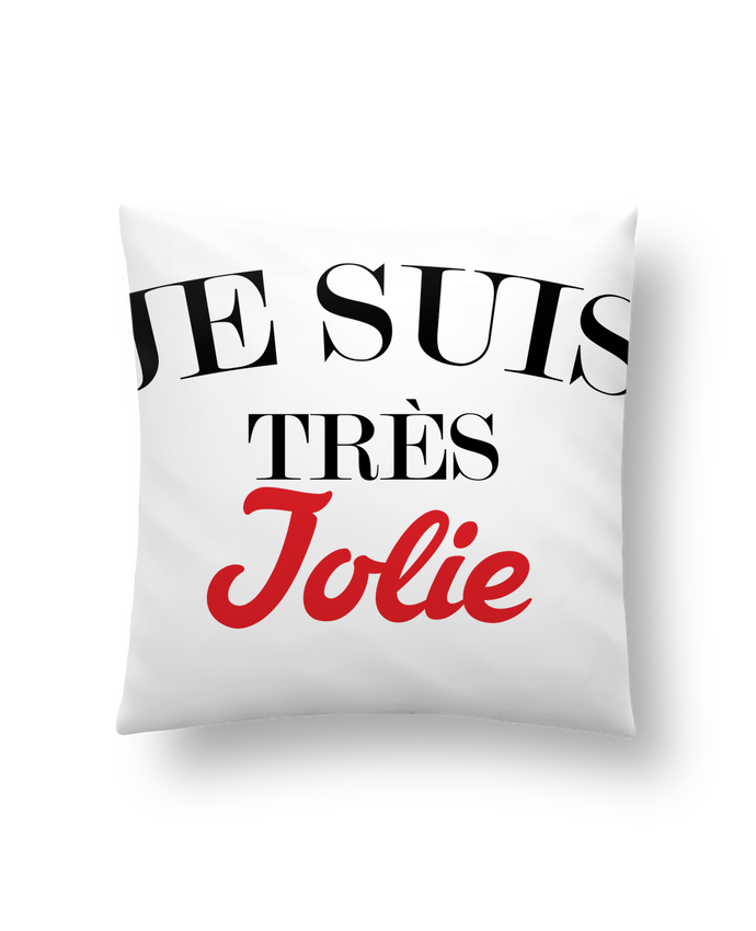 Cushion synthetic soft 45 x 45 cm Je suis très jolie by tunetoo