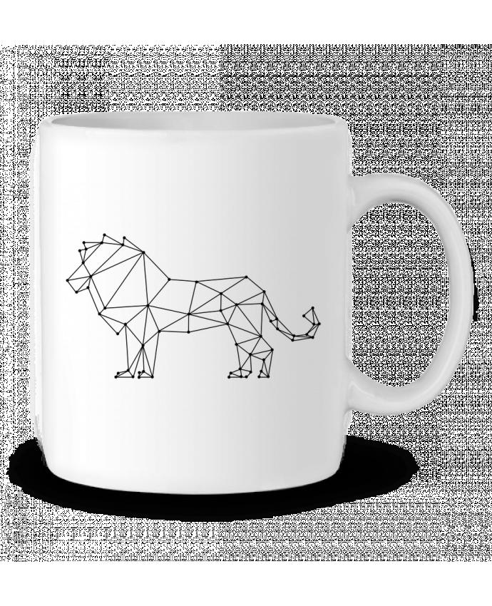 Ceramic Mug Origami lion by /wait-design