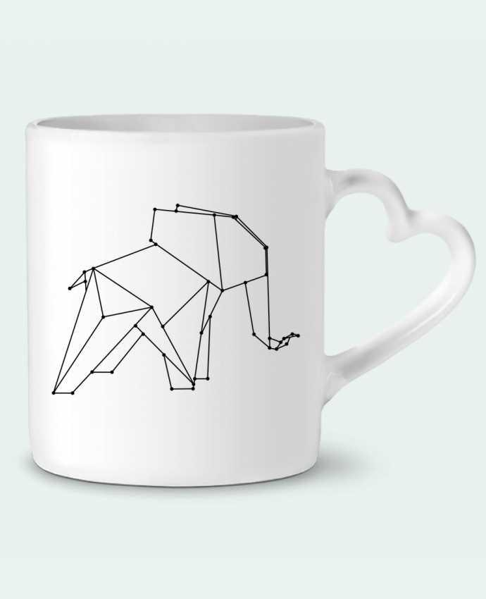 Mug Heart Origami elephant by /wait-design