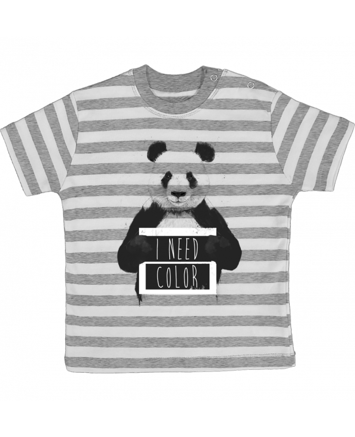 T-shirt baby with stripes I need color by Balàzs Solti