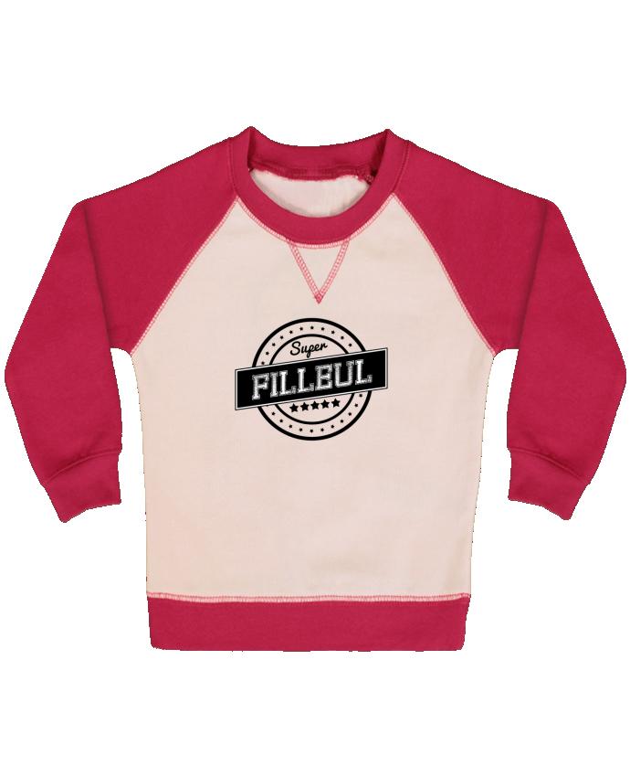 Sweatshirt Baby crew-neck sleeves contrast raglan Super filleul by justsayin