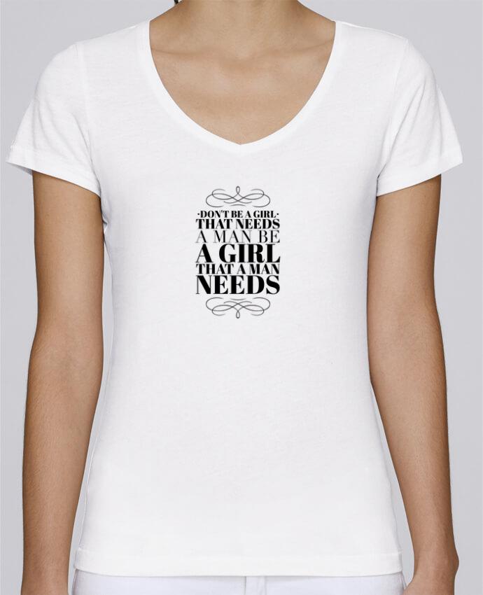 T-Shirt V-Neck Women Stella Chooses Don't be a girl by Les Caprices de Filles