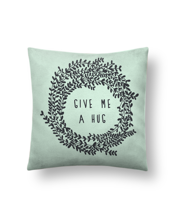 Cushion suede touch 45 x 45 cm Give me a hug by Les Caprices de Filles