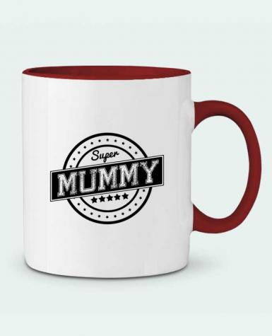 Two-tone Ceramic Mug Super mummy justsayin