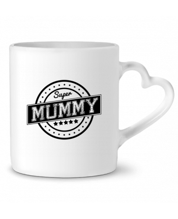 Mug Heart Super mummy by justsayin