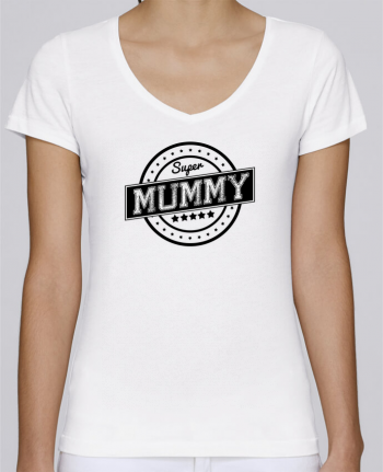 T-Shirt V-Neck Women Stella Chooses Super mummy by justsayin