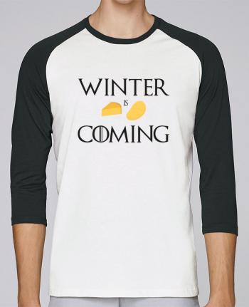 T-shirt Baseball crew-neck unisex stanley stella Winter is coming by Ruuud
