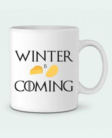 Ceramic Mug Winter is coming by Ruuud