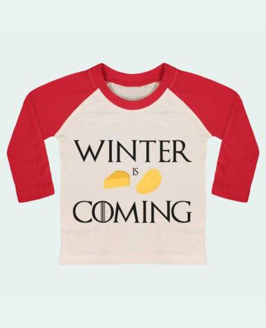 T-shirt baby Baseball long sleeve Winter is coming by Ruuud