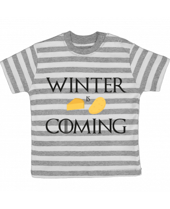 T-shirt baby with stripes Winter is coming by Ruuud