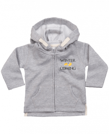Hoddie with zip for baby Winter is coming by Ruuud