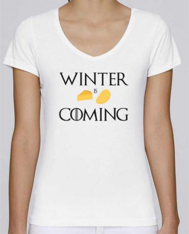 T-Shirt V-Neck Women Stella Chooses Winter is coming by Ruuud